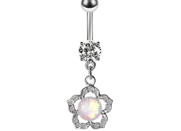 Opal Blume mit Stein