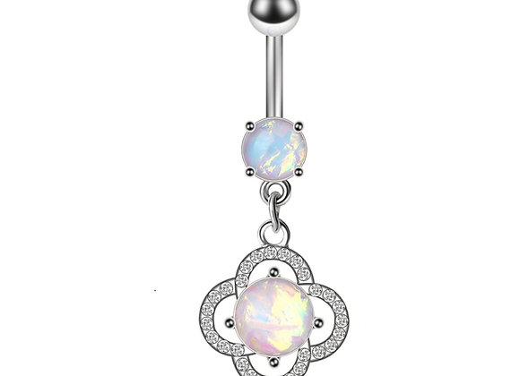 Boho Blumen mit Opal Stein
