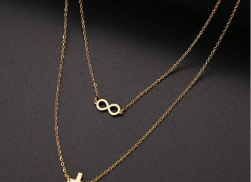 Doppel Kette - Infinity & Kreuz