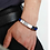 Thumbnail: Silikon Armband mit Titan Edelstahl Platte