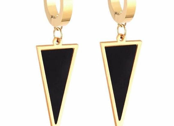 Edelstahl - Dreieck - vergoldet