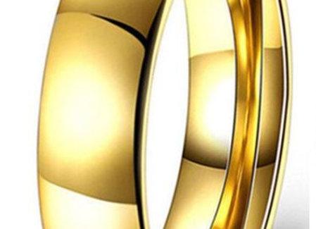 Edelstahl Ring - Gold