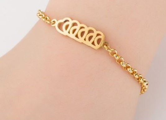"Edelstahl Armband ""Hearts"""