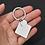 Thumbnail: G - Schlüsselanhänger mit viereckigen und runder Platte