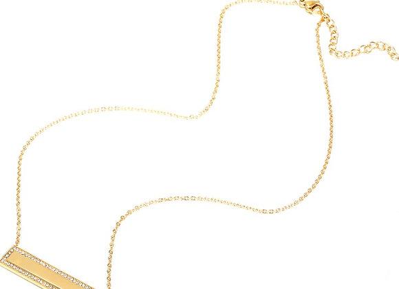 Kristall Blank Bar Anhänger Halskette