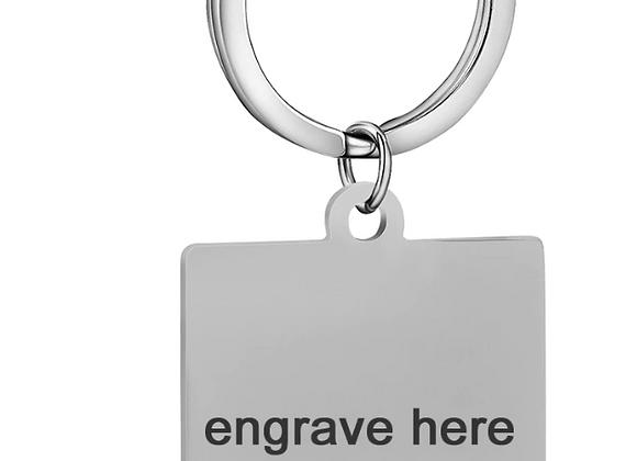 Eckiger Schlüsselanhänger