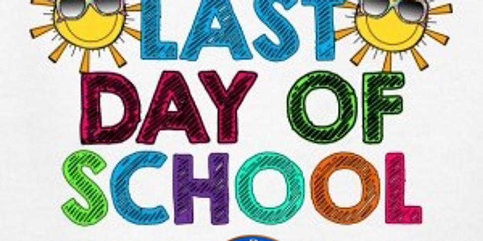 Last Day of School for Kindergarten to Grade 1 Students