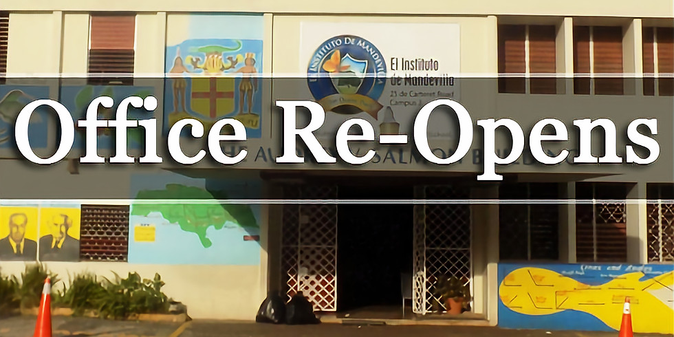 Office Re-Opens for Summer Term 2021