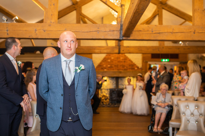 The Hayloft at Allerton Manor wedding