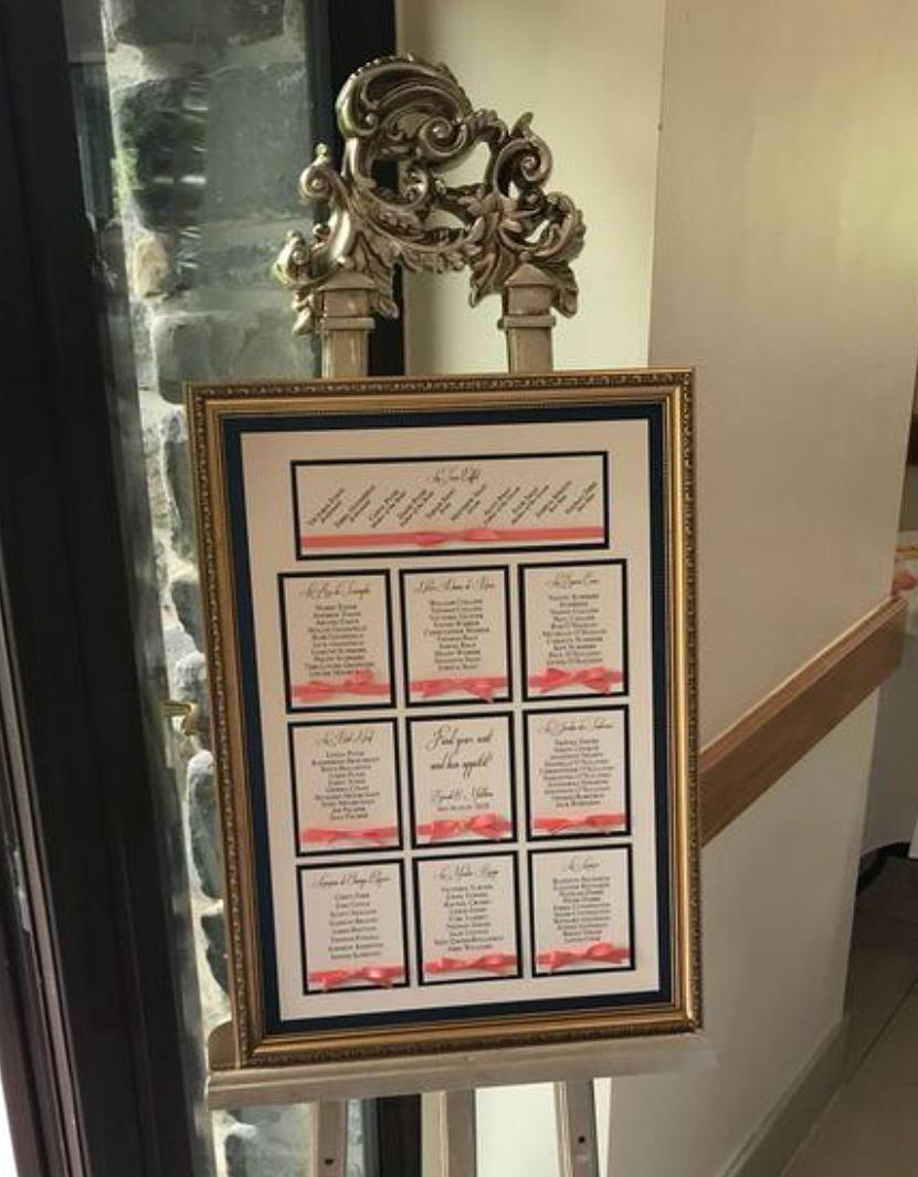 Framed Table Plan