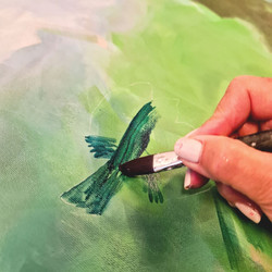 Der fugler bygger rede - under arbeid