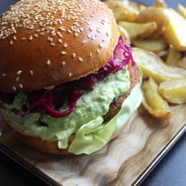Greenburger ai ceci, verdure e patate