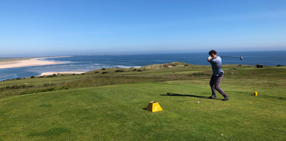 Bamburgh Golf Course is spectacular