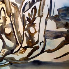 Number 18-Watercolor & Pastel