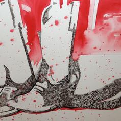 Number 12-Ink & Watercolor