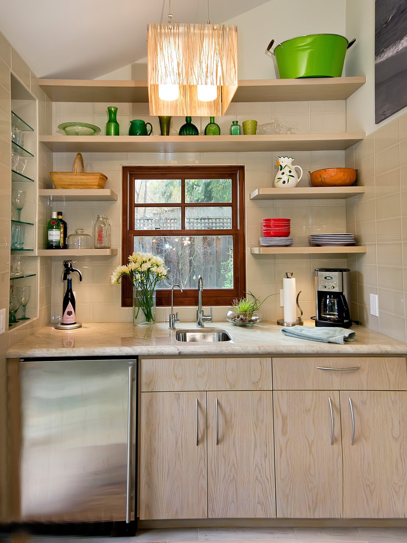 Compact Wet Bar in Garage Conversion