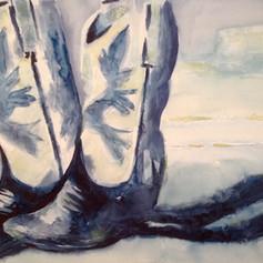 Number 14-Watercolor & Gesso