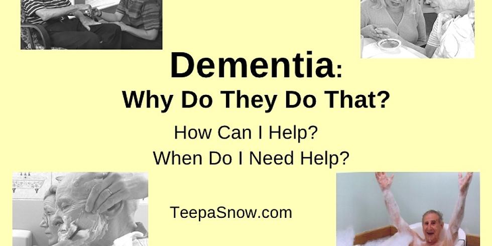 4th Wednesday Dementia Education