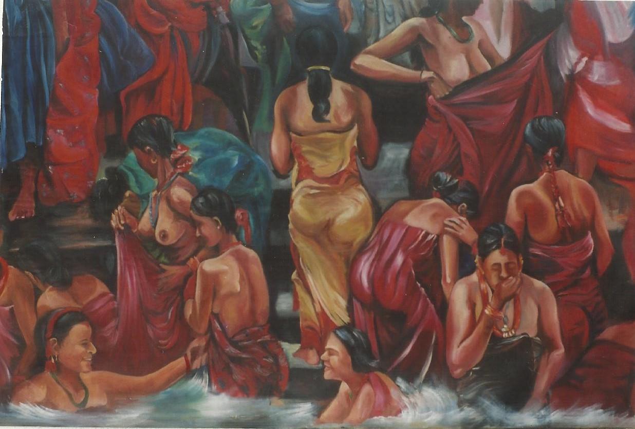 Bathers in the Bagmati (Kathmandu)