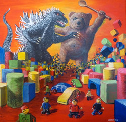 Teddy v Godzilla