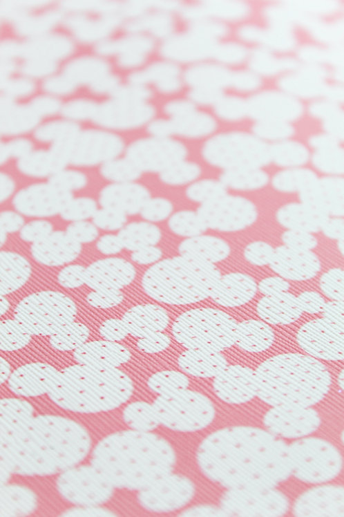 Minnie Pink Print Faux Leather Sheet