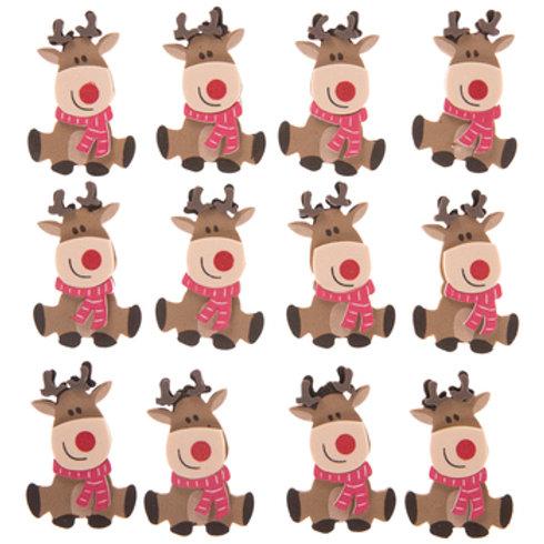 Reindeer Foam Stickers