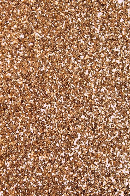Rose Gold Chunky Glitter Sheet