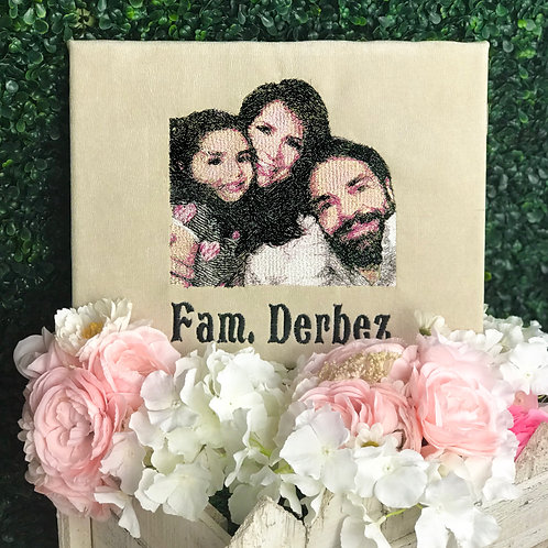 Personalized Embroidered Frame
