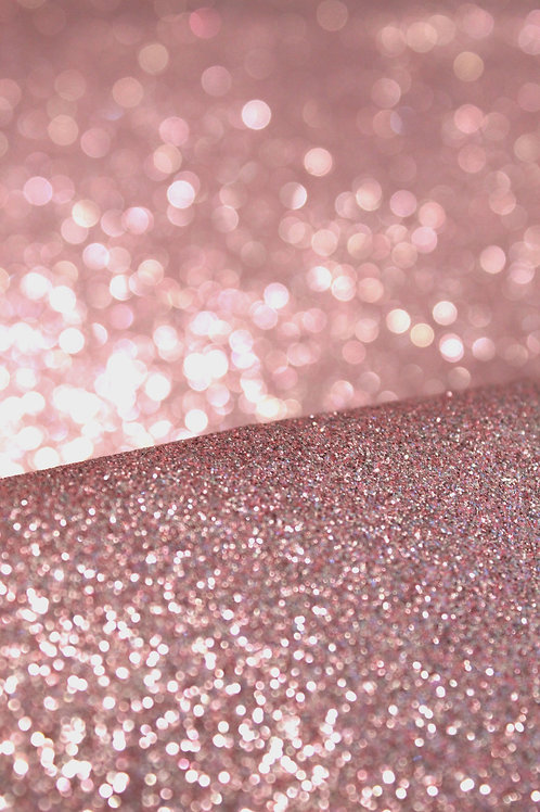 Rose Gold Fine Glitter Sheets
