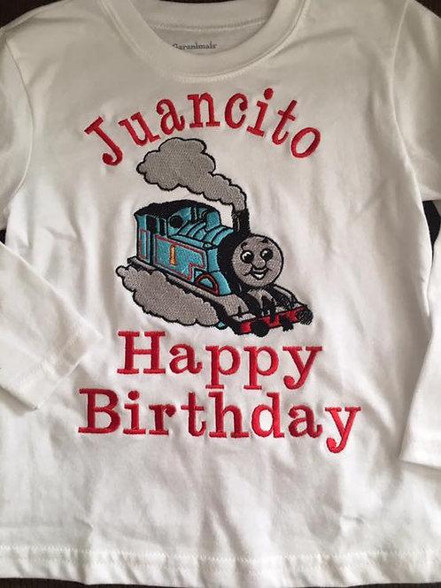 Playera de Cumpleanos con Happy Birthday