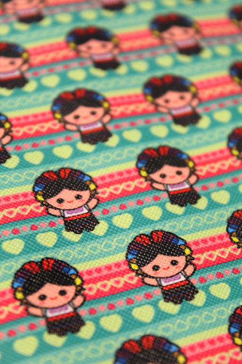 Frida Kahlo Faux Leather Sheet