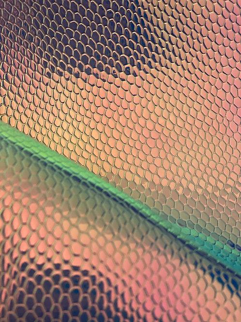 Chrome Print Faux Leather
