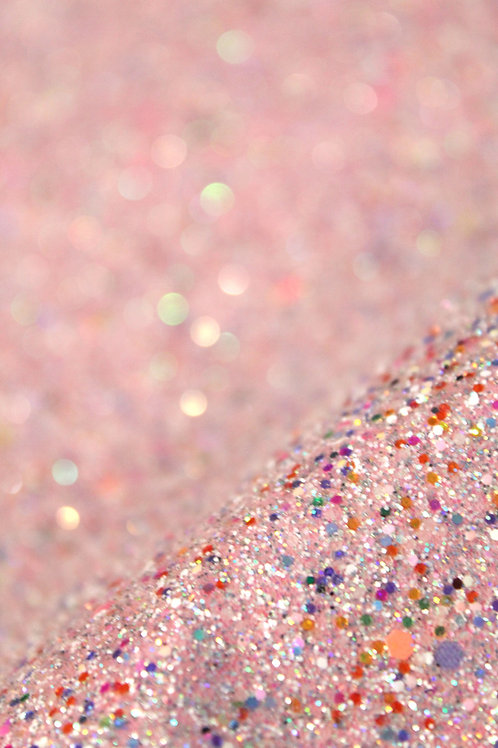 Rainbow Pink Chunky Glitter Sheet