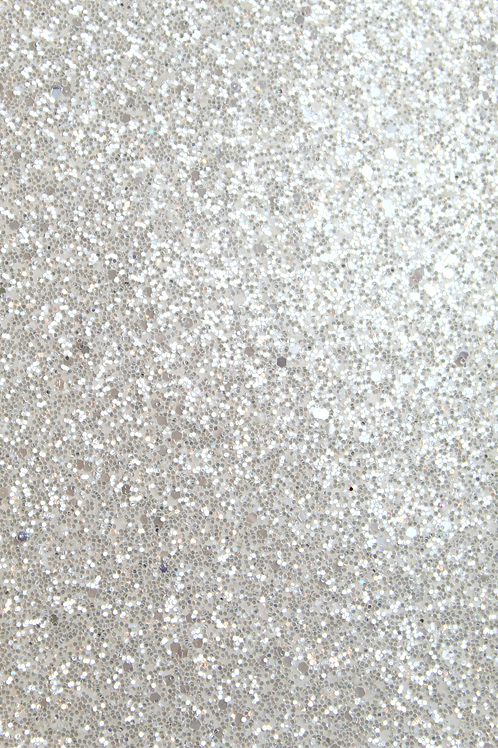 White Chunky Glitter Sheet
