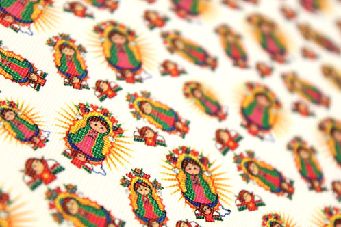 Virgencita de Guadalupe Faux Leather Sheets