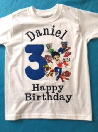 Camisa para festejado con Happy Birthday