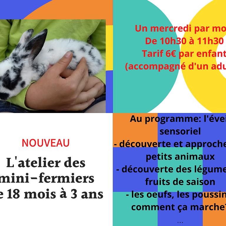 L'atelier des mini-fermiers (de 18 mois à 3 ans)