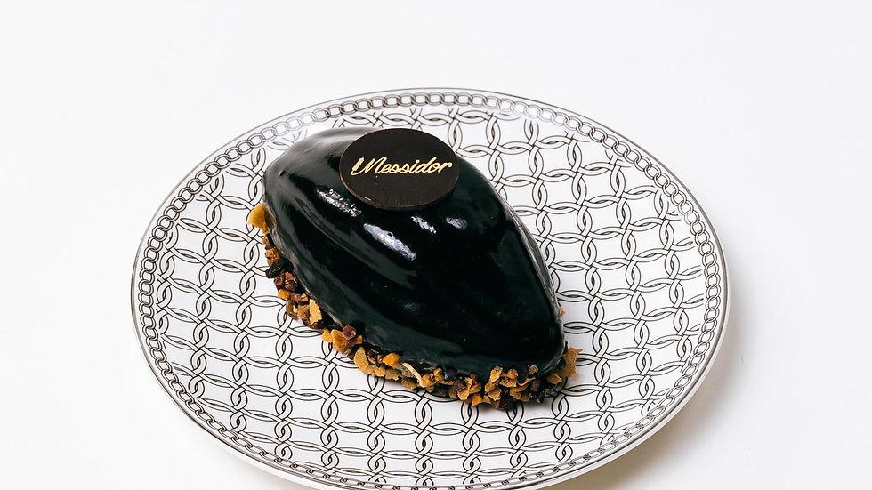 Messidor : croustillant aux 2 chocolats et caramel