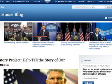 Veterans History Project: Help Tell the Story of Our Nation's Veterans (White House blog)
