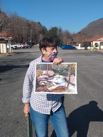 Carolann with Watercolor River Paining.j