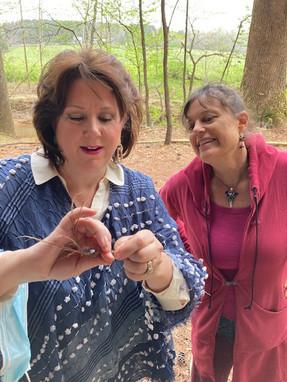 Making rope with June Ellen