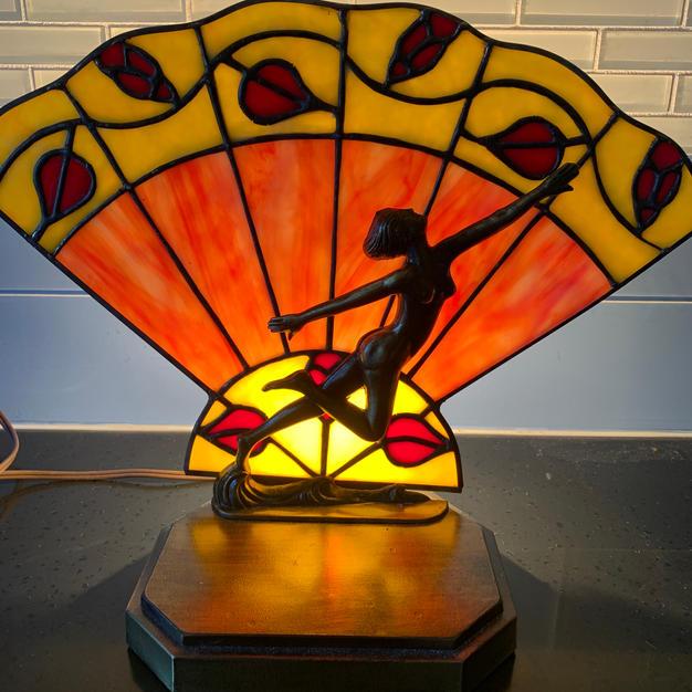 Stained glass fan lamp - Mara R
