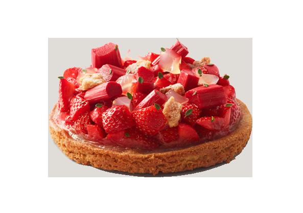 Tarte fraise-rhubarbe - Delicatessen