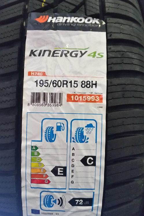 195/60 r15 88H  HANKOOK KINERGY 4S