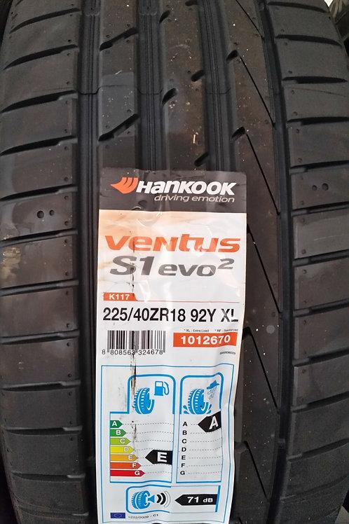 225/40 ZR18 92Y XL HANKOOK VENTUS S1EVO2