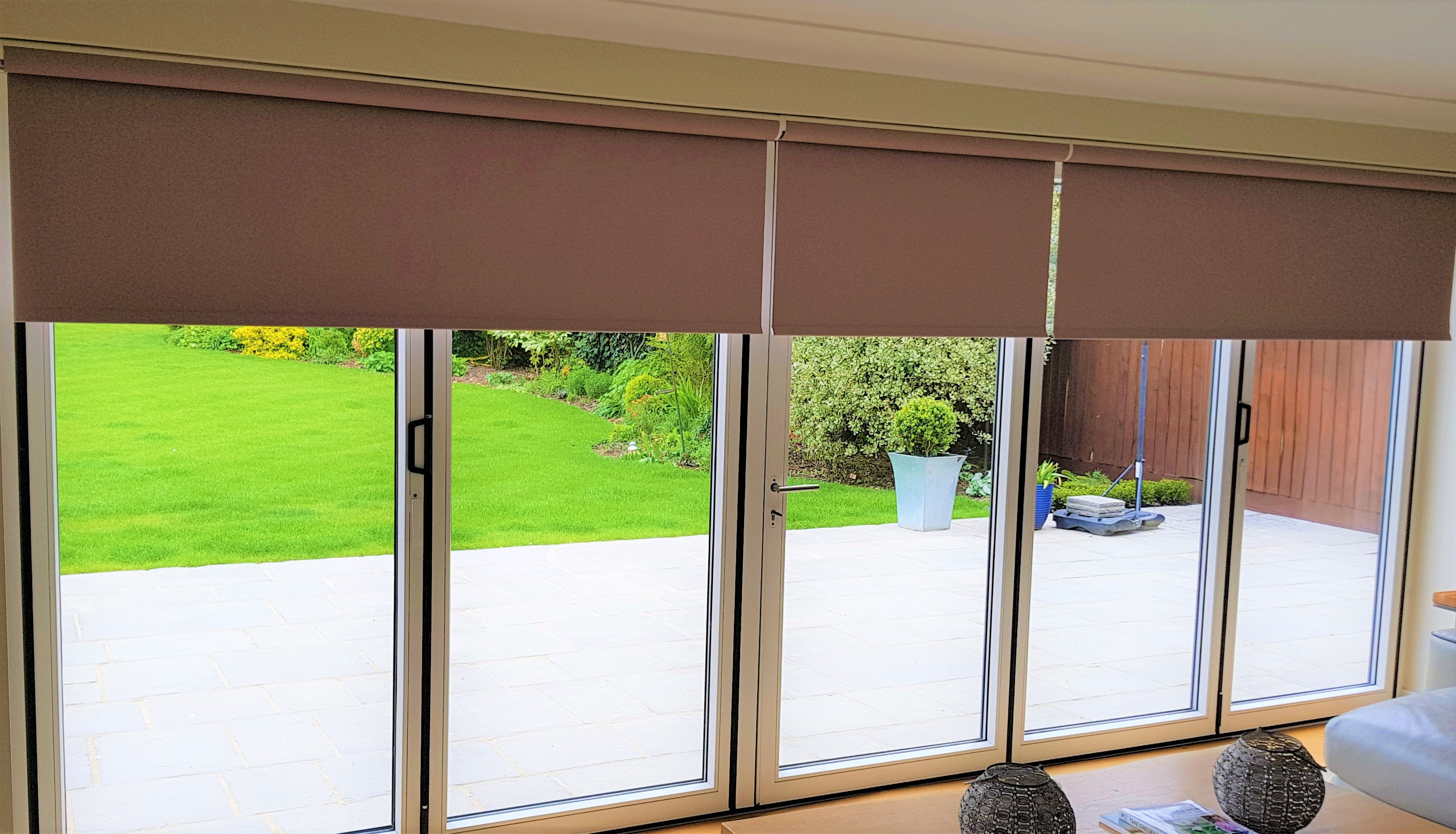 motorised rollers on Bi fold doors