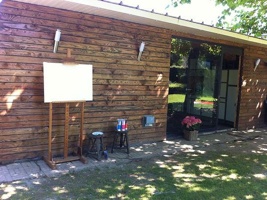 creatief atelier schilderworkshops intuitief natuur rustig metime ontspanning oosterzele happylife happycreative