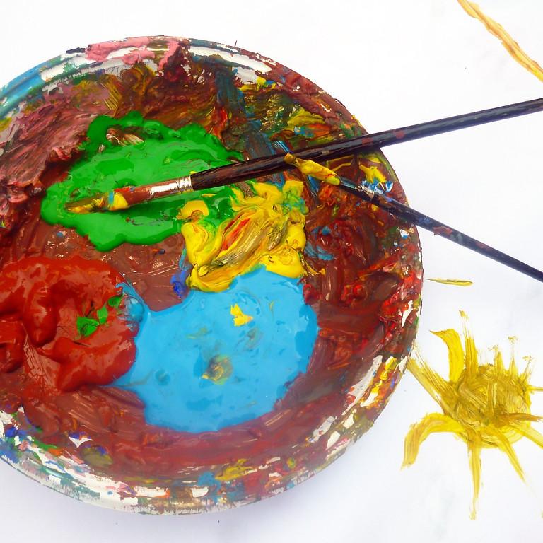 Kunstworkshop - kinderen: Schilderen met acrylverf en/of mixed media. Voor kinderen