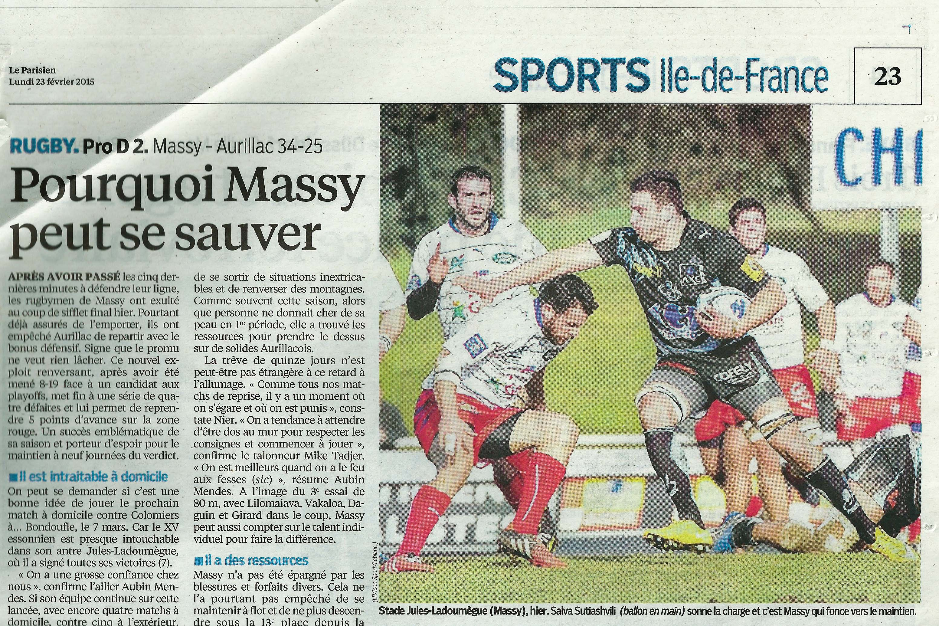 Match de Rugby, Le Parisien