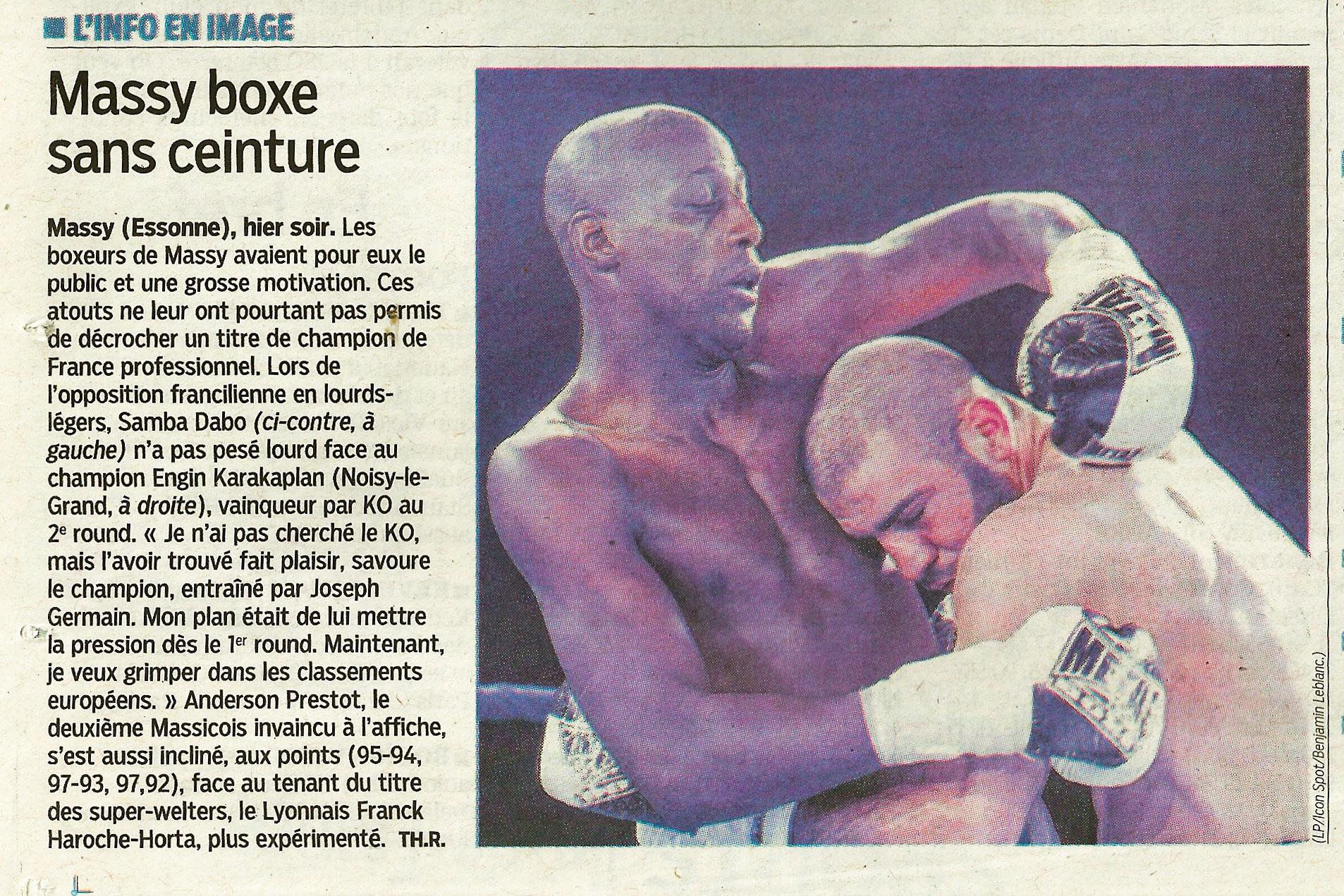Boxe Anglaise, Le Parisien